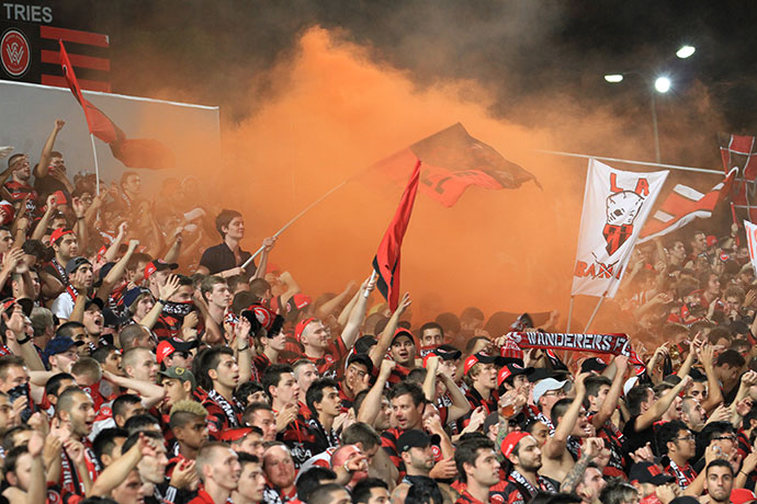 Wanderers fans in the RBB have caused issues in the past