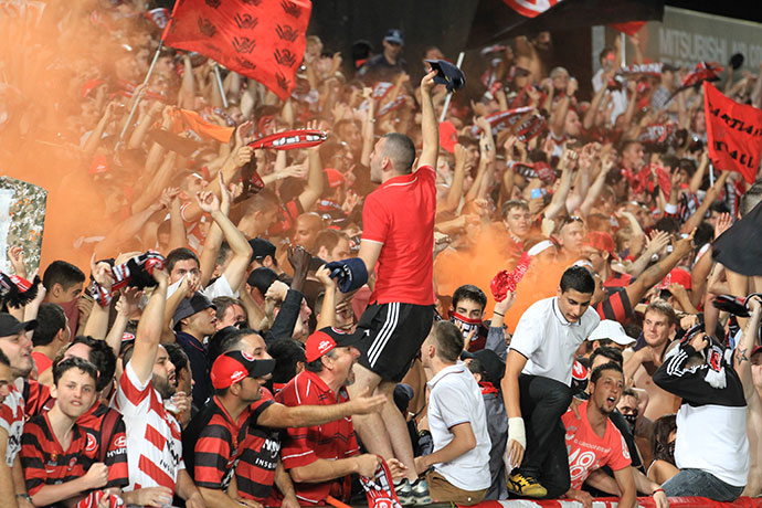 Wanderers fans are considered among the most passionate in Australian sport
