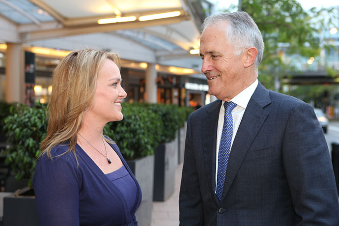 Lindsay MP Fiona Scott with Malcolm Turnbull [File Photo]