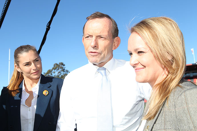 Tony Abbott with Lindsay MP, Fiona Scott