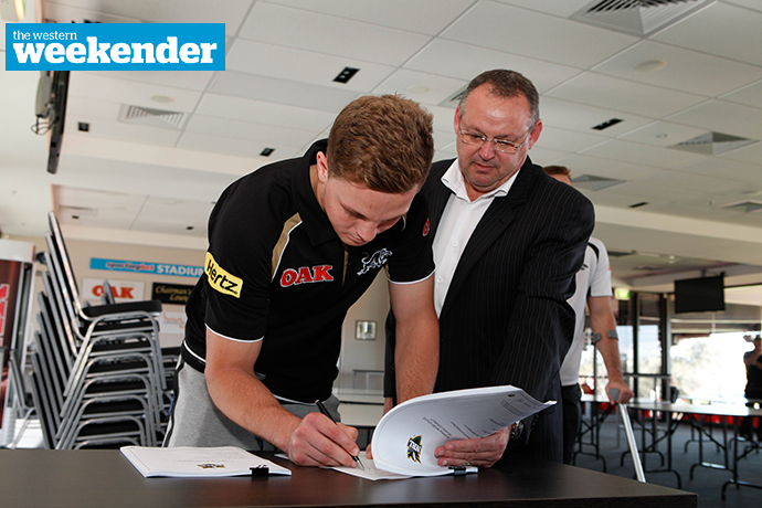 Matt Moylan signing an extended deal with Penrith back in 2015