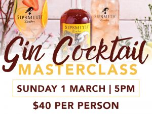 Gin Masterclass @ Ironabrk Terrace at St Marys Rugby League Club |  |  |