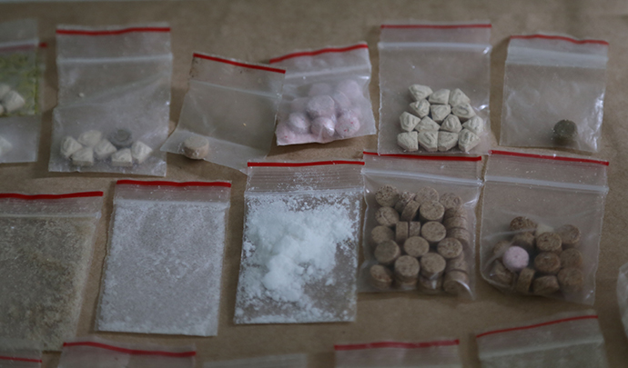 Items found at a home in St Clair