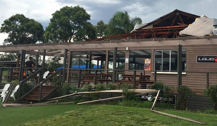 Damage at Cables Wake Park in Penrith