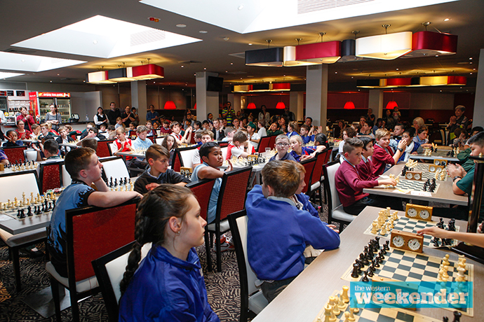 Local students took part in a major chess tournament in Penrith. Photo: Melinda Jane
