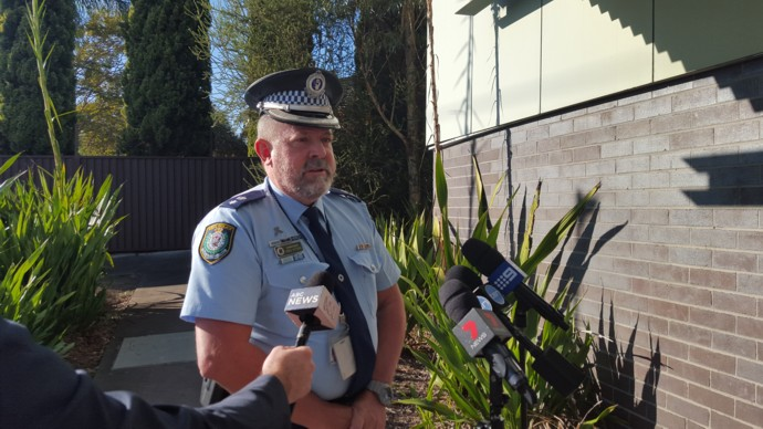 Police address the media this morning.