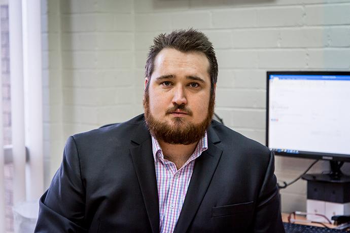Daniel McKinnon co-owns a greyhound that races in NSW