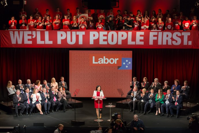 Emma Husar addressing the campaign launch. Photo: Megan Dunn