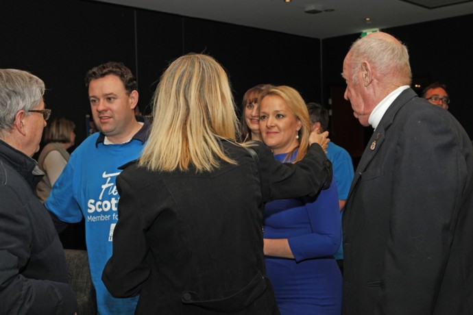 Fiona Scott at her election night party. Photo: Melinda Jane