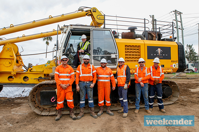 Work begins on the new bridge over the Nepean River. Photo: Melinda Jane