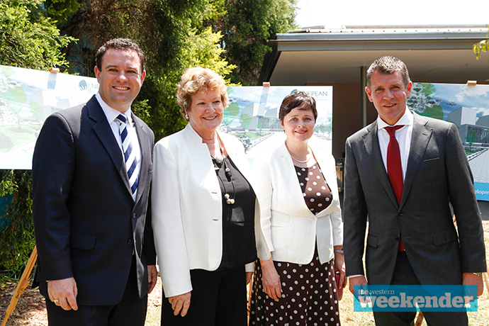 Stuart Ayres, Jillian Skinner, Tanya Davies and Mike Baird. Photo: Melinda Jane