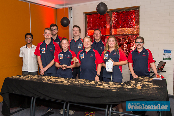 Students taking part in the STEM event last Thursday. Photo: Megan Dunn