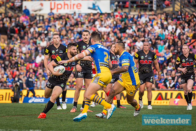 Josh Mansour in action against the Panthers. Photo: Megan Dunn