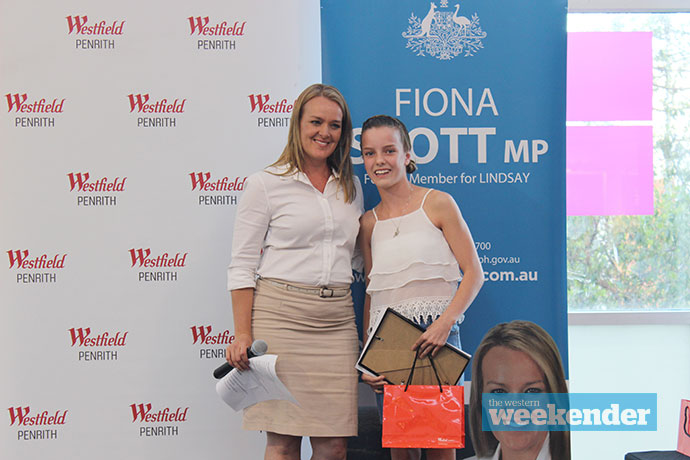 Lindsay MP Fiona Scott with one of the grant recipients